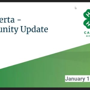4-H Alberta Town Hall Recorded Video