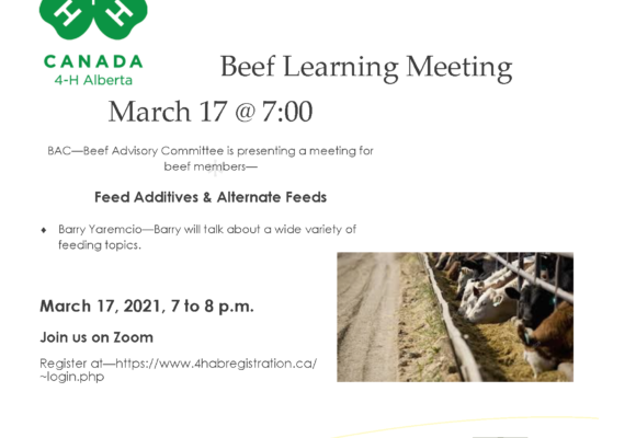Beef Learning Meeting